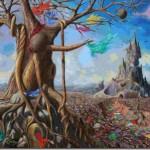 L'œuvre Syndrome de l'Ile de Pâques de l'artiste Betsileo Lando