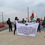 Manifestation sur la route Digue en marge du Sommet de la Francophonie à Antananarivo