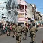 Les forces de sécurité toujours présentes à chaque mouvement de foule