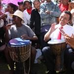 Marc Ravalomanana tenait à rester détendu malgré la tension qui l'oppose aux dirigeants
