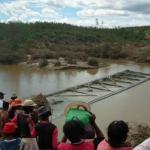 Le pont de Vohiposa, sur la RN 7, emporté par les eaux